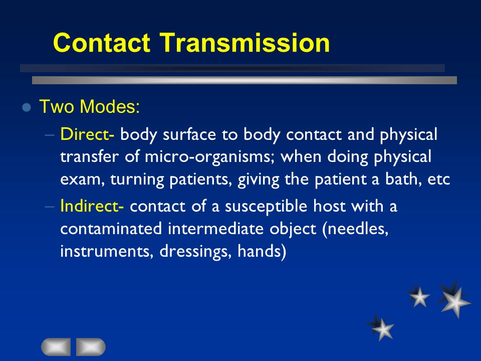 Contact Transmission Two Modes: