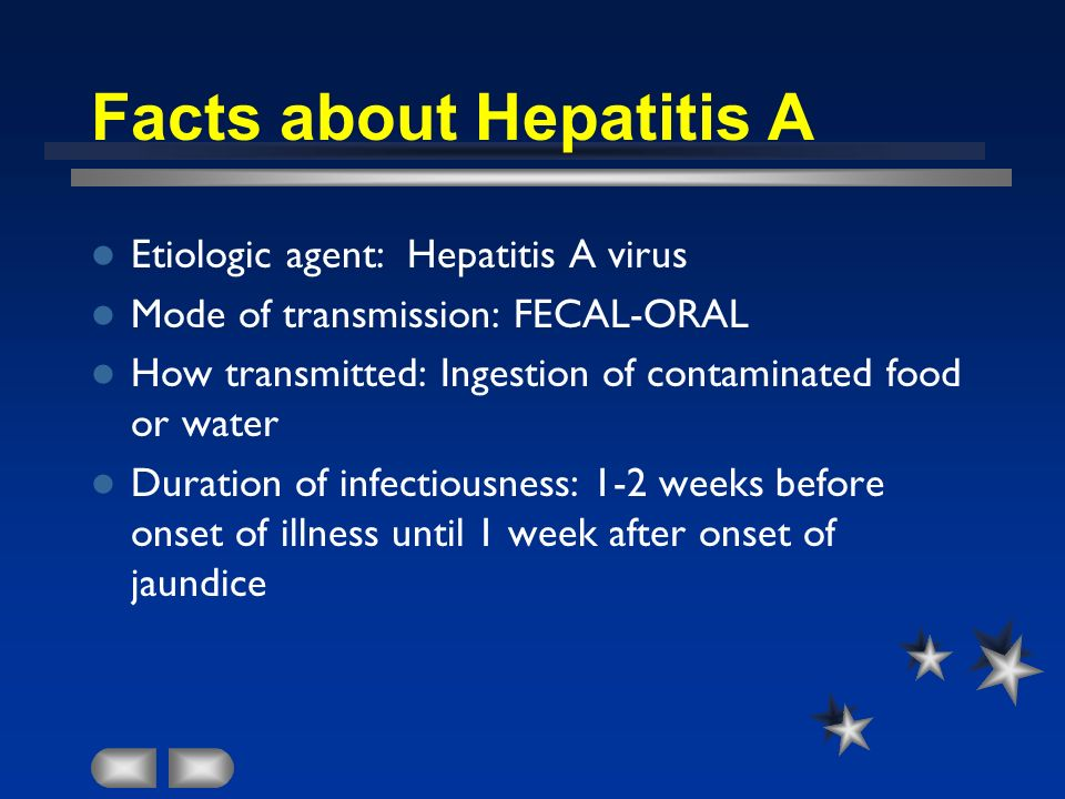 Facts about Hepatitis A