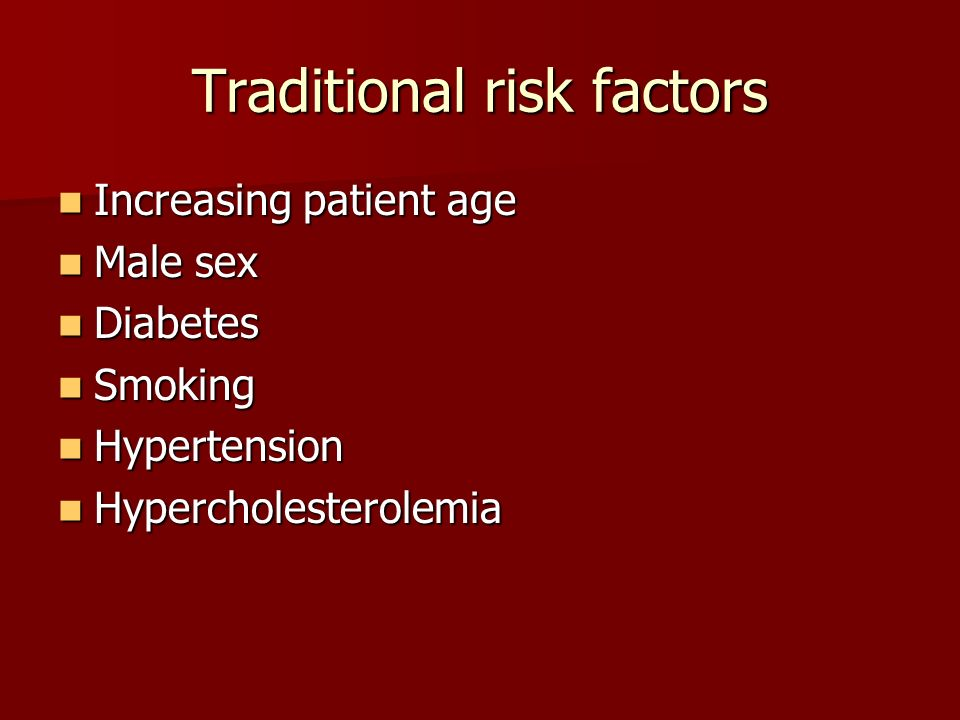 Traditional risk factors