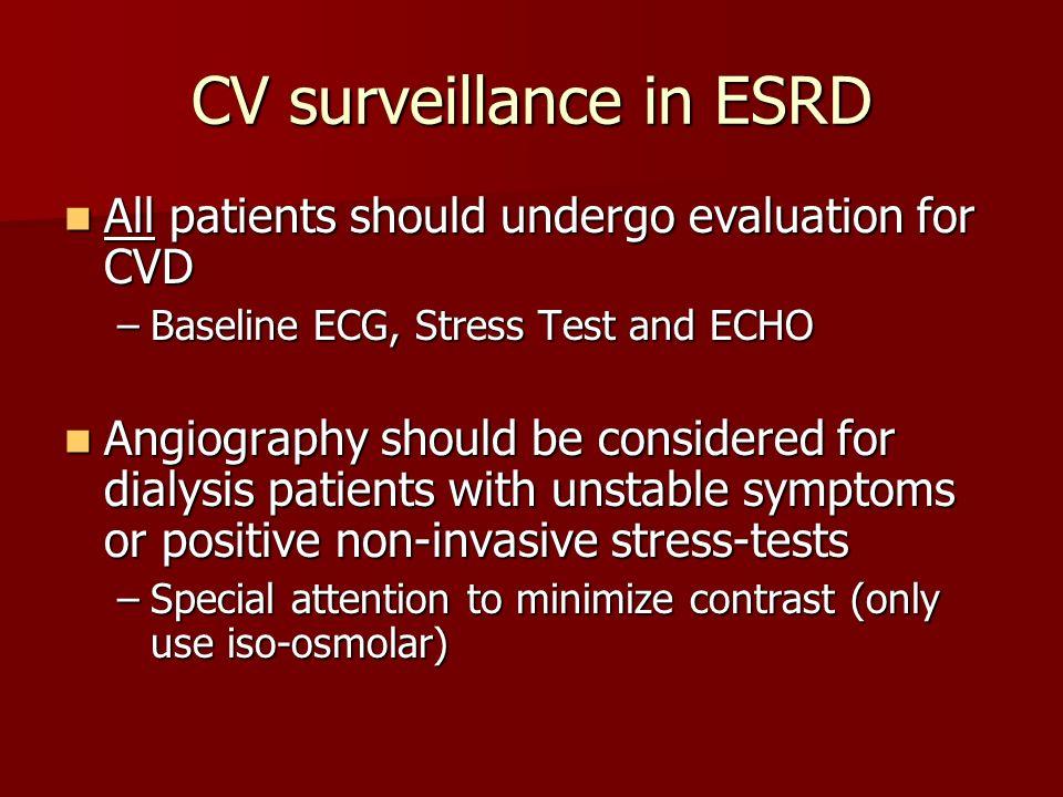 CV surveillance in ESRD