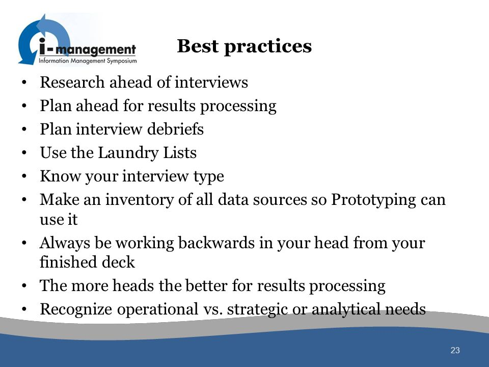 Best practices Research ahead of interviews