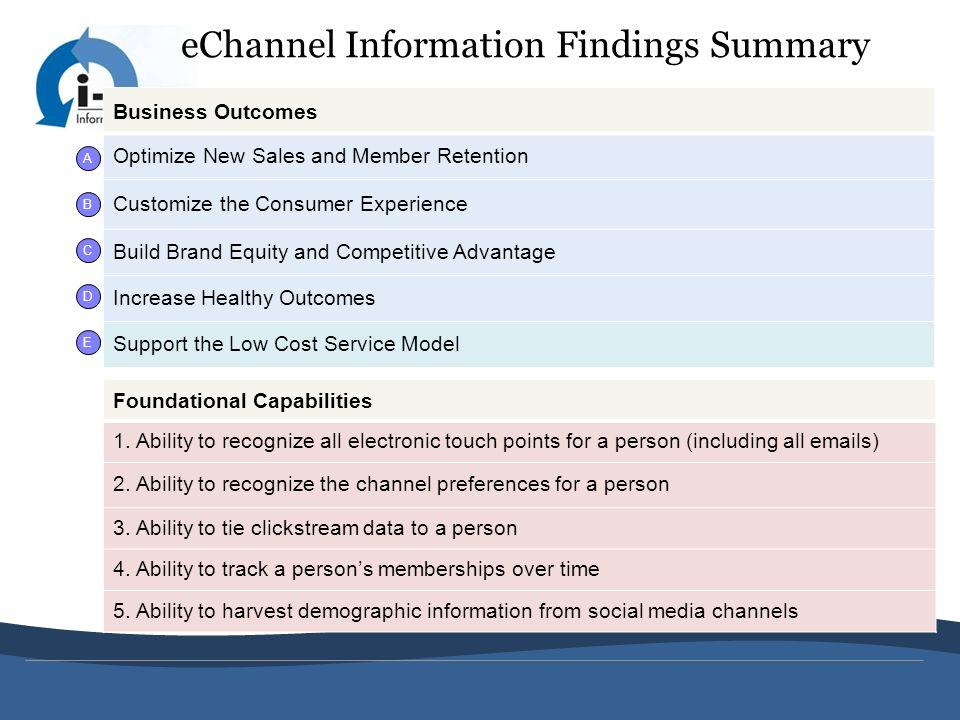 eChannel Information Findings Summary