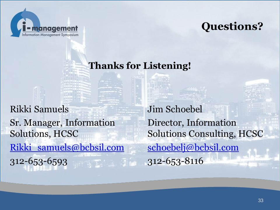 Questions Thanks for Listening! Rikki Samuels