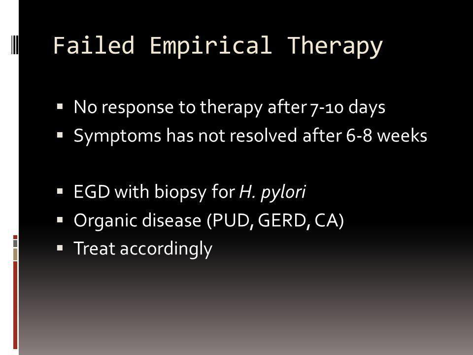 Failed Empirical Therapy