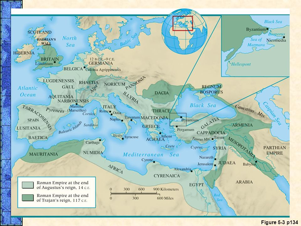 MAP 5. 3 The Roman Empire from Augustus Through Trajan (14–117)