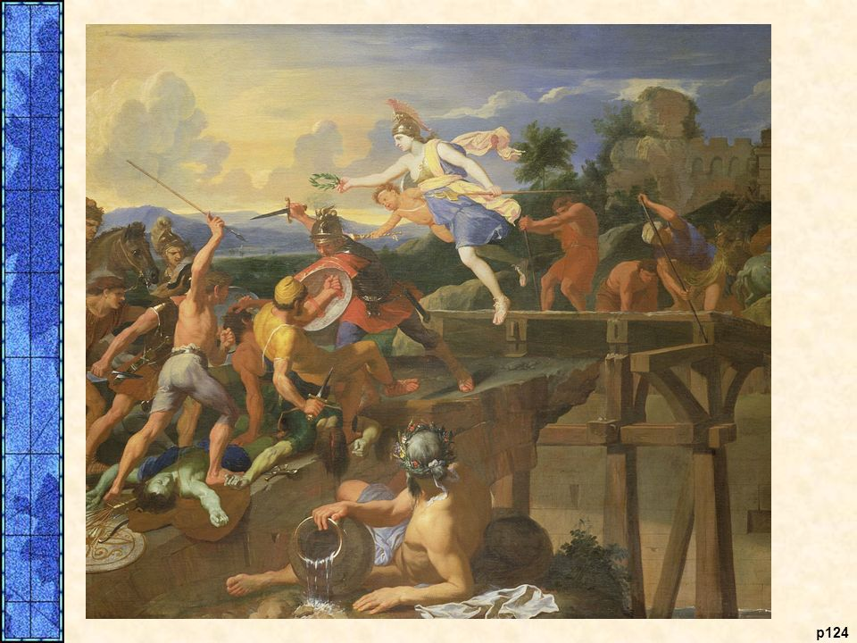 Horatius defending the bridge, as envisioned by Charles Le Brun, a seventeenth-century French painter