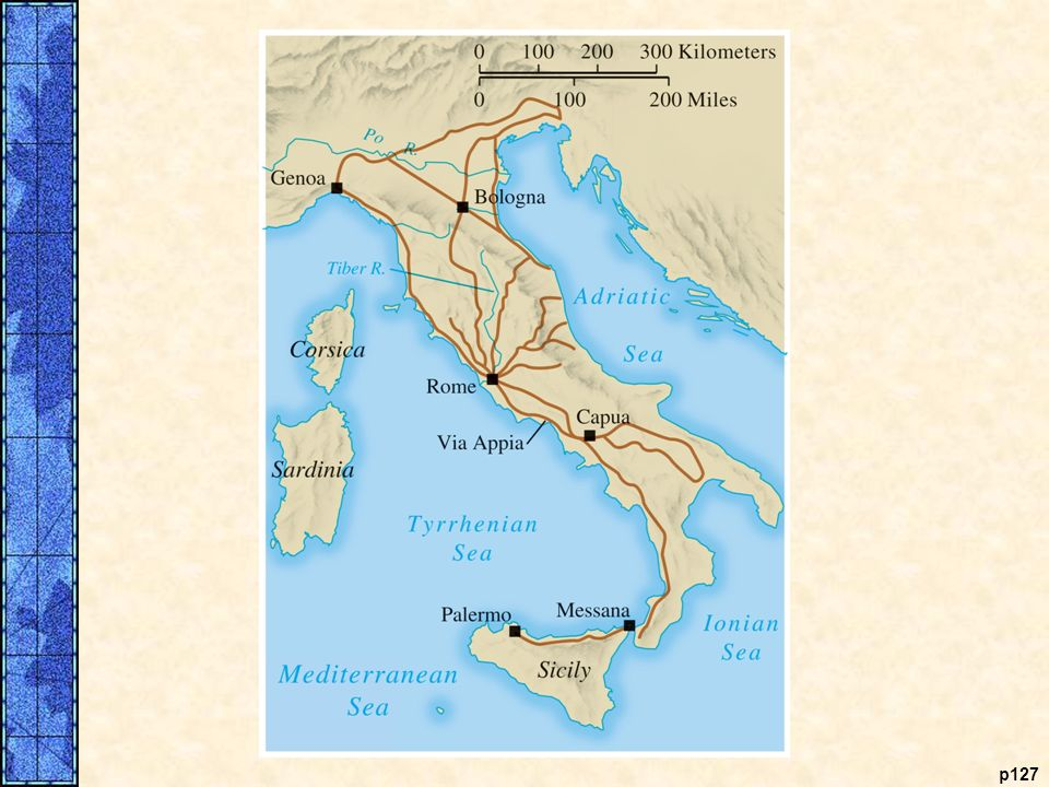 COMPARATIVE ILLUSTRATION Roman and Chinese Roads