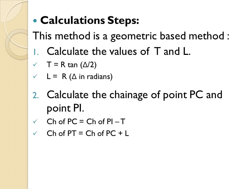 This method is a geometric based method :