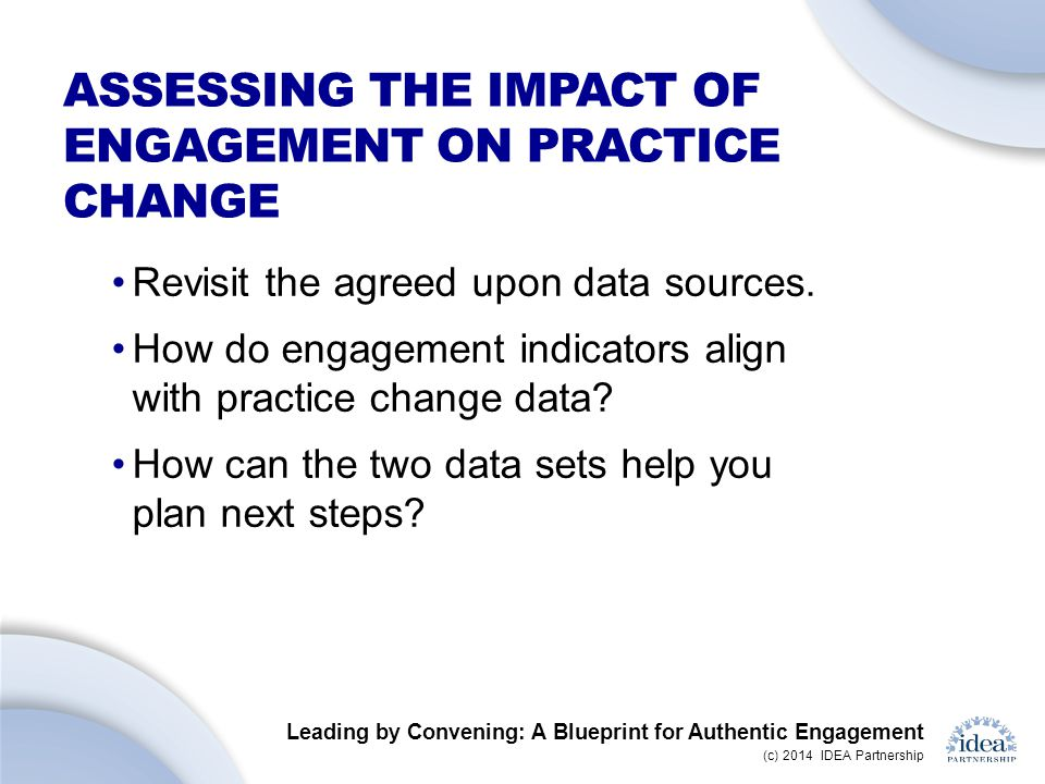 Assessing the impact of engagement on practice change