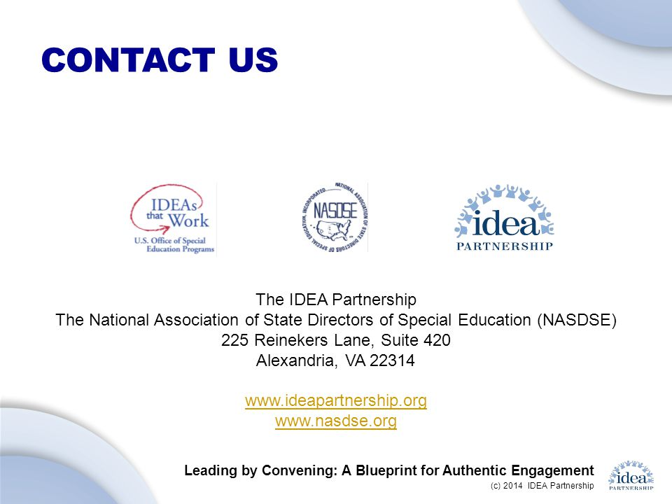 Contact US The IDEA Partnership