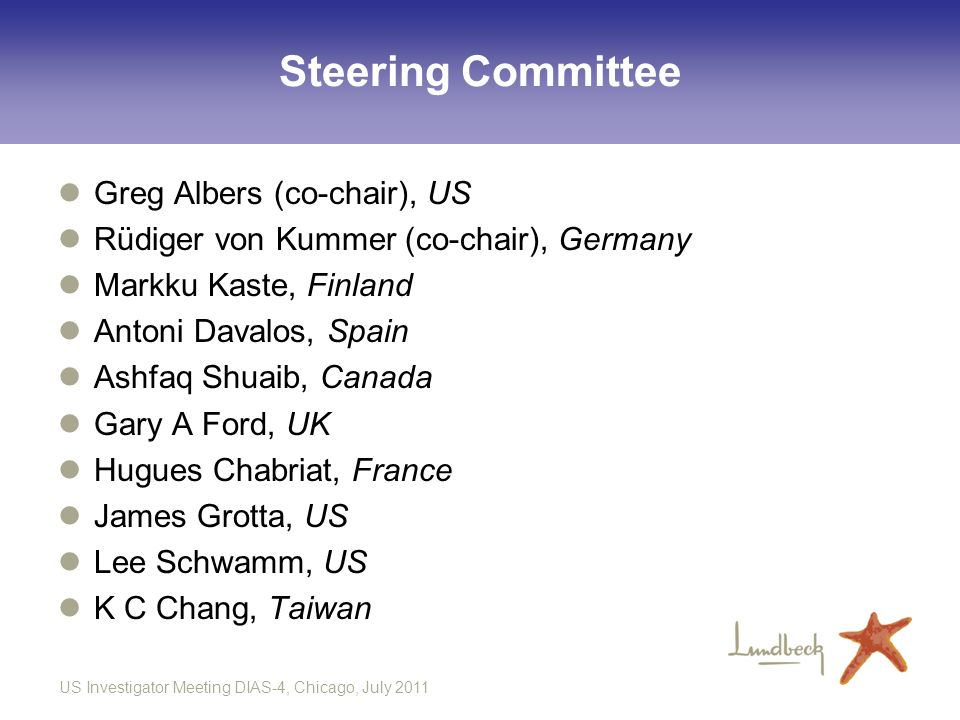 Steering Committee Greg Albers (co-chair), US