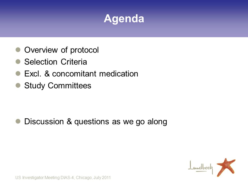 Agenda Overview of protocol Selection Criteria