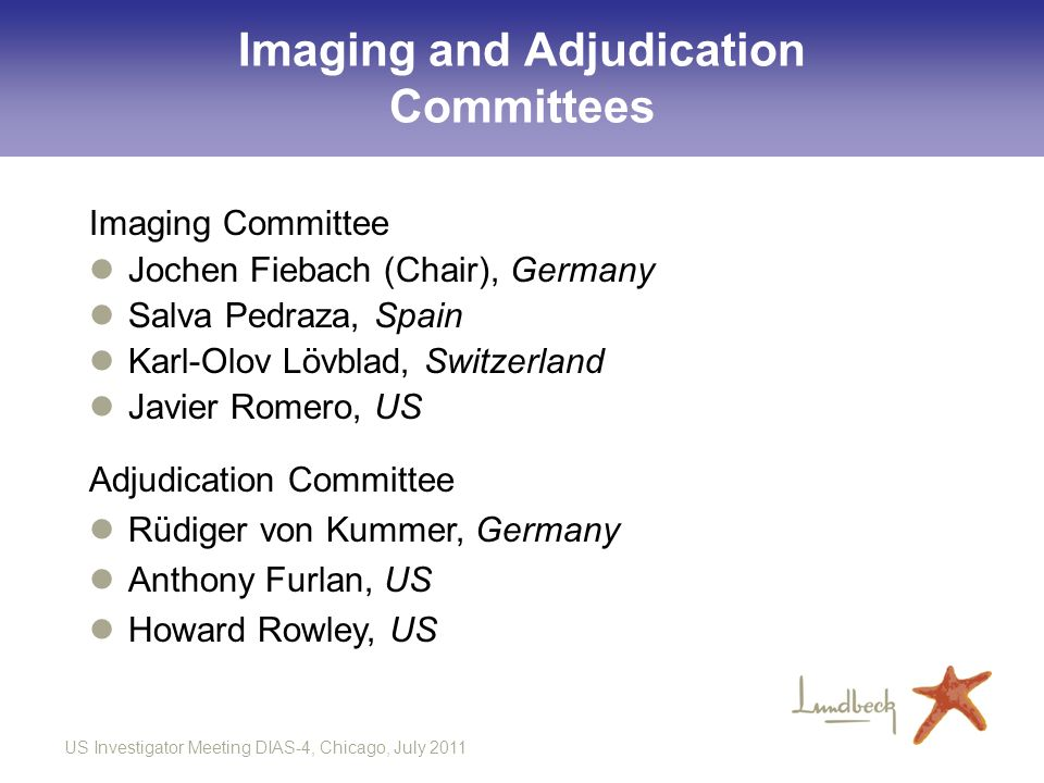 Imaging and Adjudication Committees