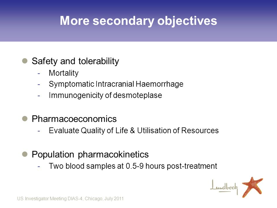 More secondary objectives