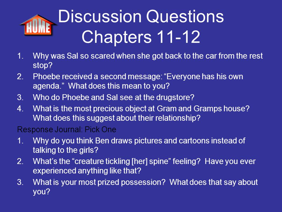 Discussion Questions Chapters 11-12