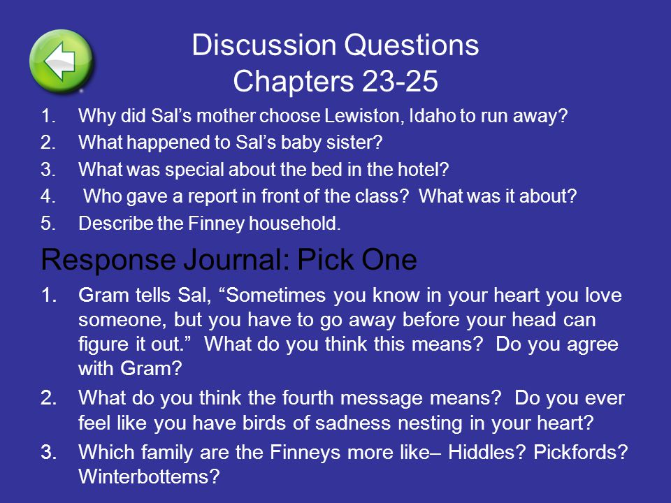 Discussion Questions Chapters 23-25