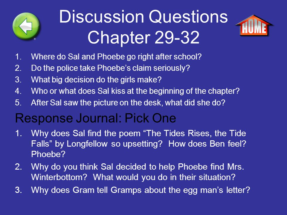 Discussion Questions Chapter 29-32