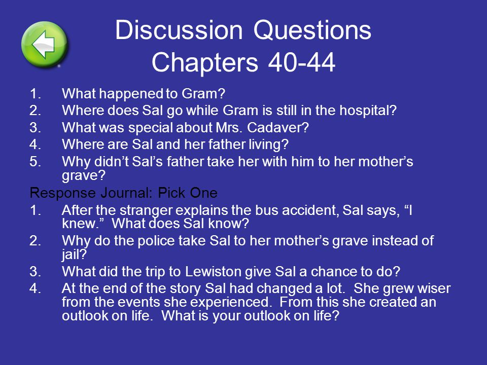 Discussion Questions Chapters 40-44
