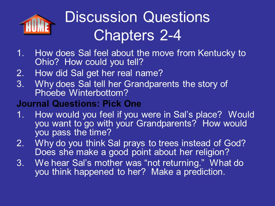 Discussion Questions Chapters 2-4