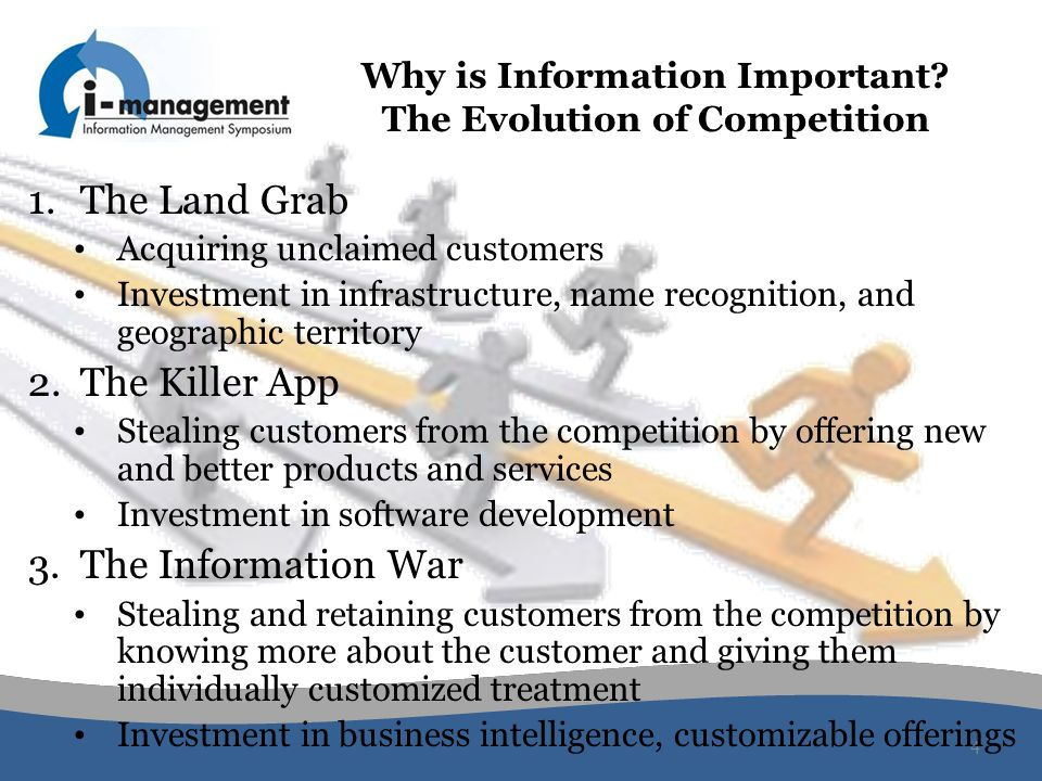 Why is Information Important The Evolution of Competition