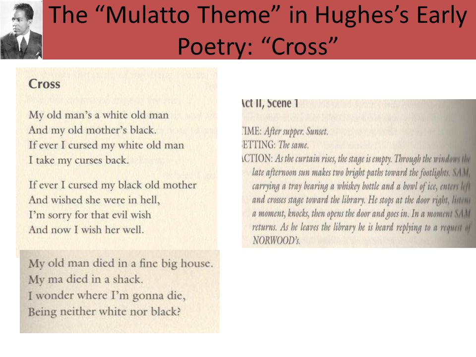 The Mulatto Theme in Hughes's Early Poetry: Cross