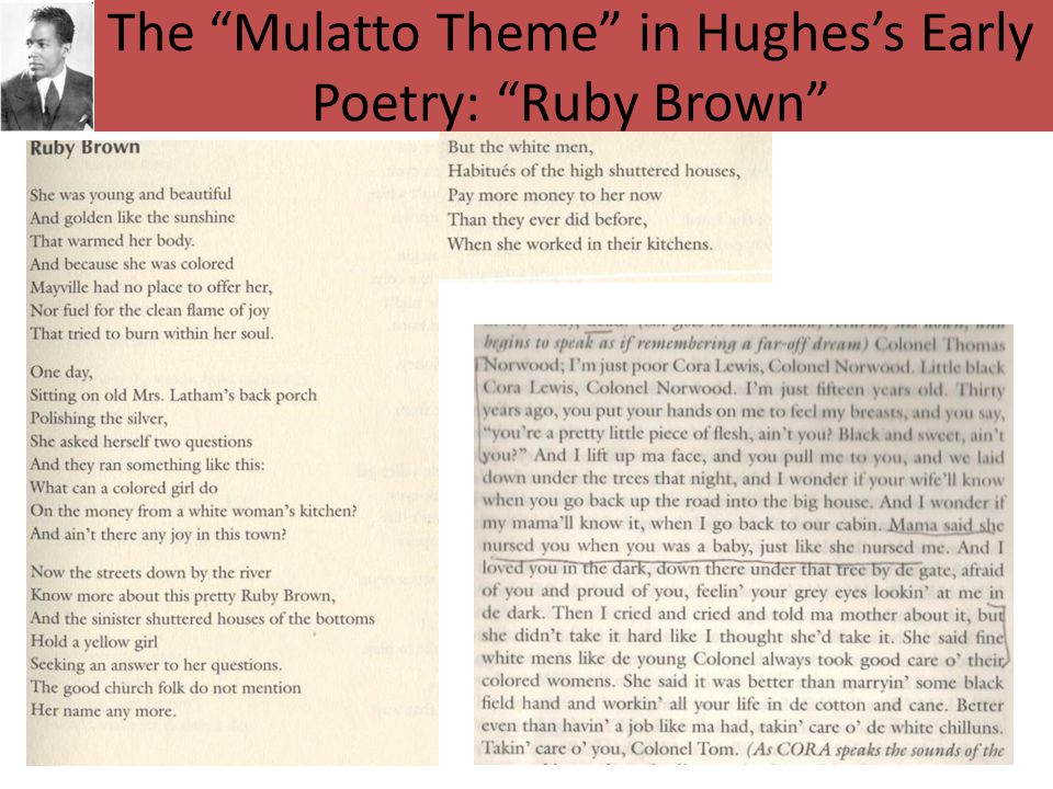 The Mulatto Theme in Hughes's Early Poetry: Ruby Brown