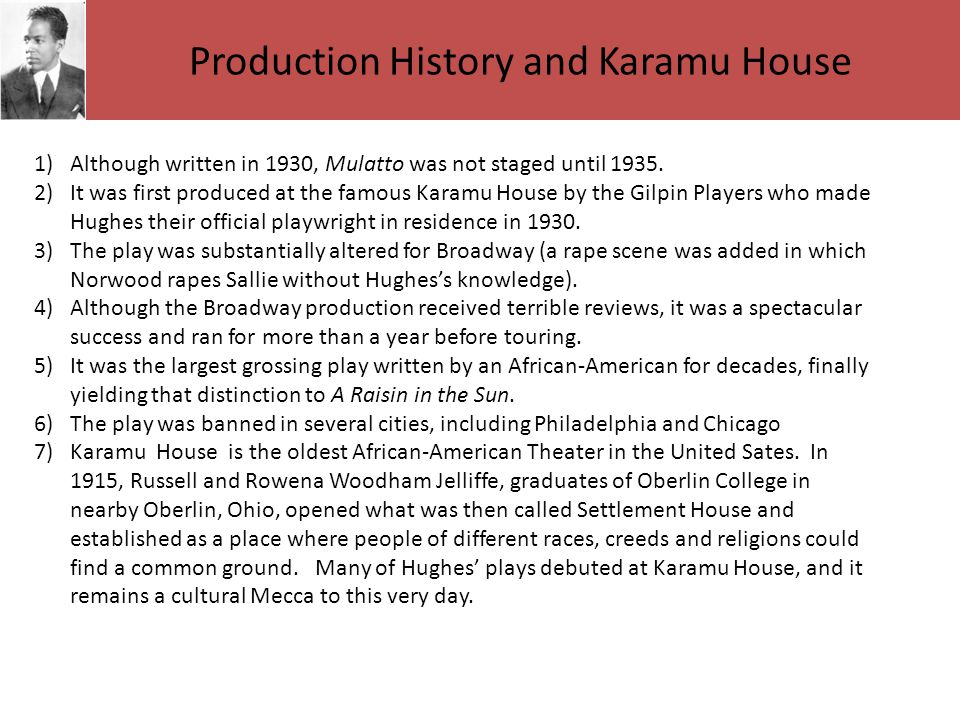 Production History and Karamu House