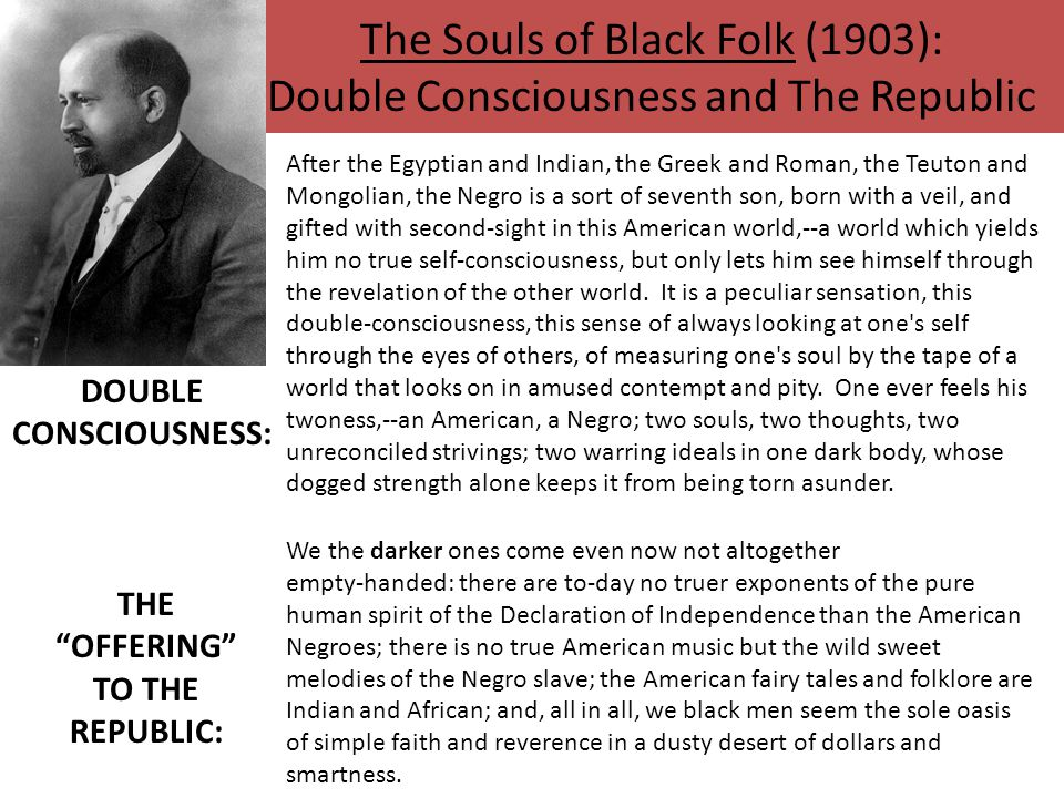 The Souls of Black Folk (1903): Double Consciousness and The Republic