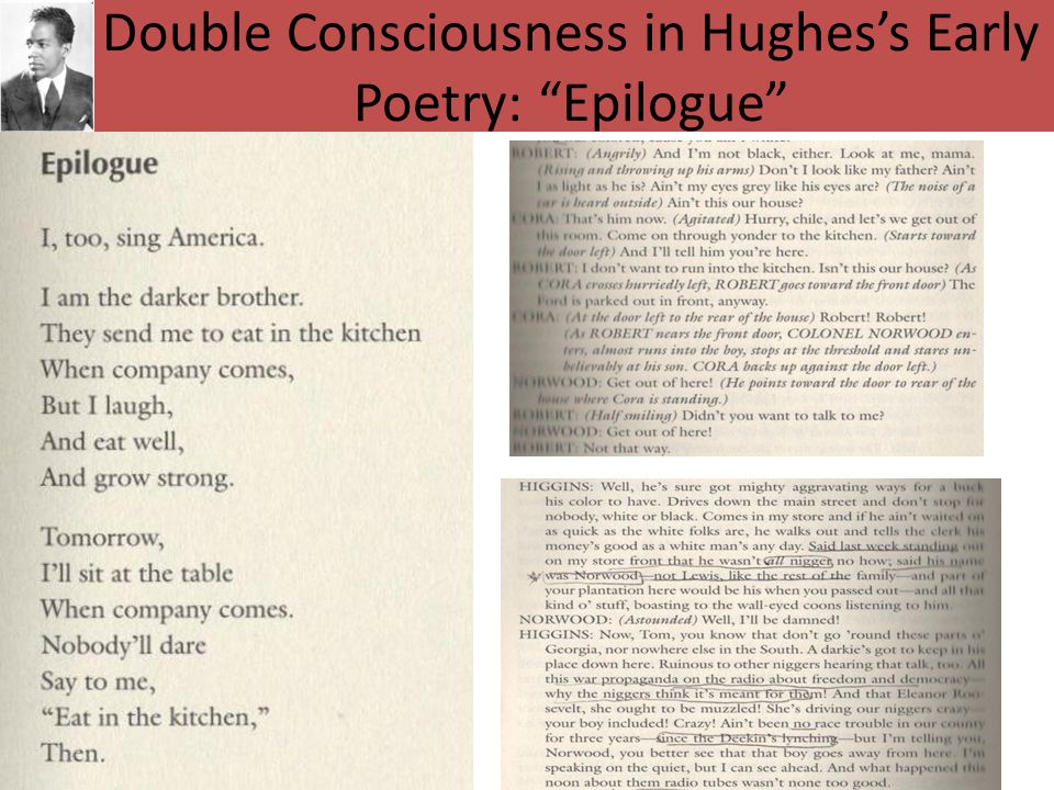 Double Consciousness in Hughes's Early Poetry: Epilogue