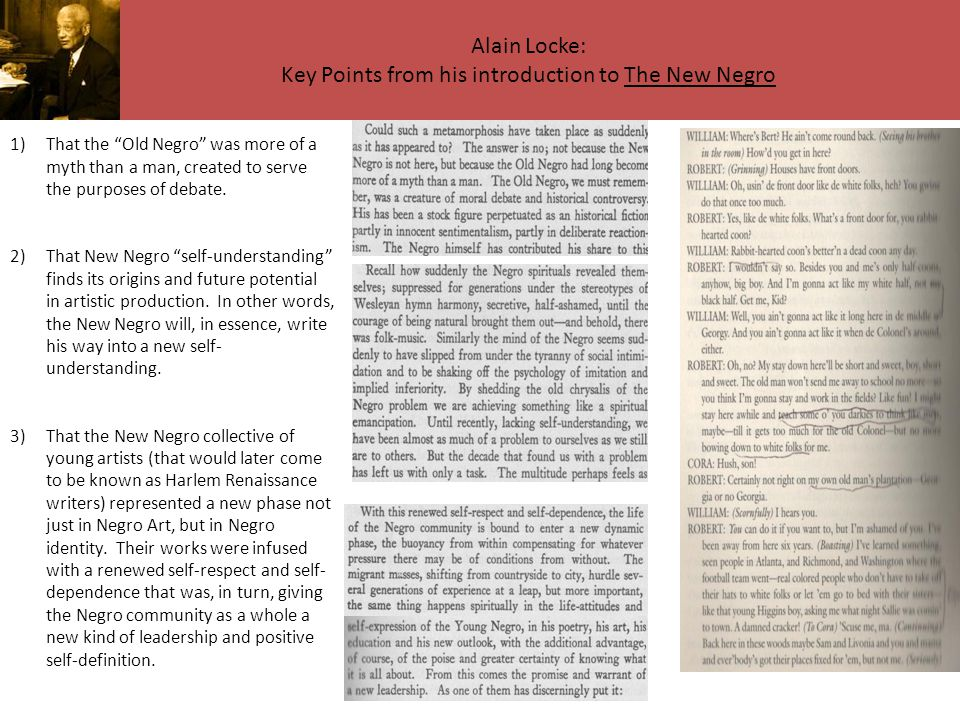 Alain Locke: Key Points from his introduction to The New Negro