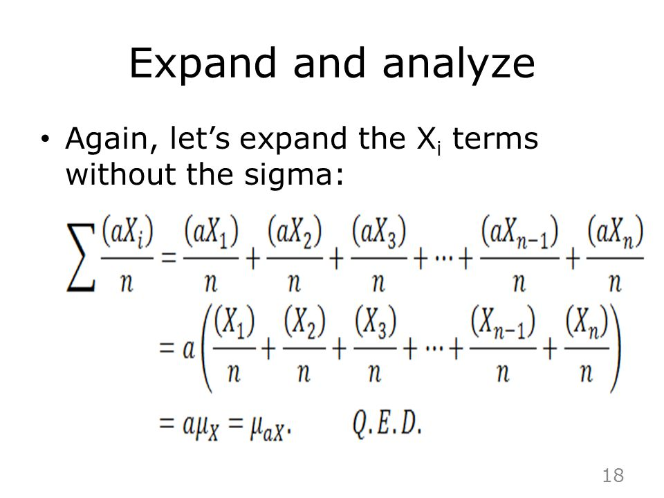 Expand and analyze Again, let's expand the Xi terms without the sigma: