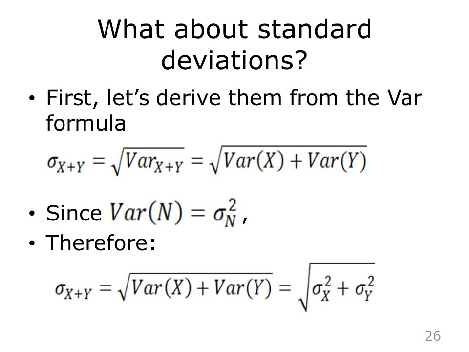 What about standard deviations