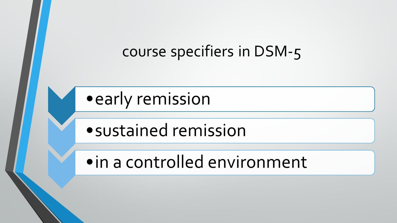 course specifiers in DSM-5