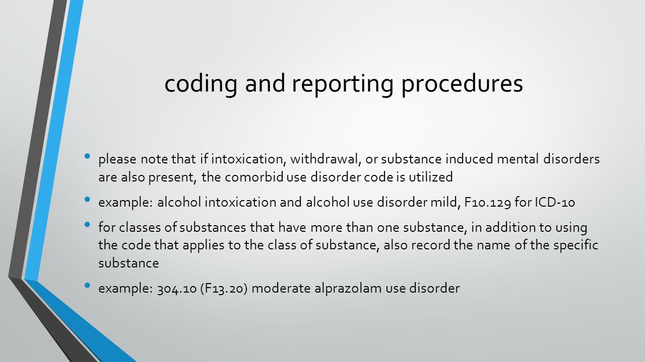 coding and reporting procedures
