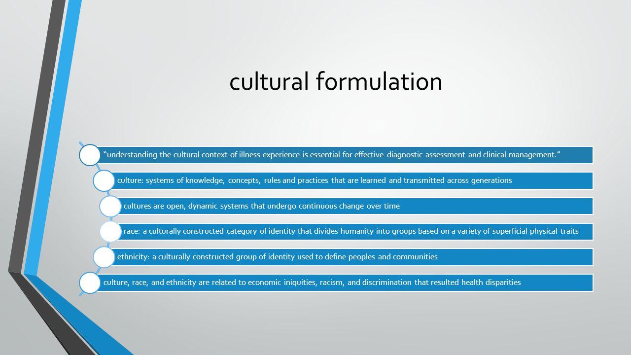 cultural formulation 4/7/2017 cultural formulation