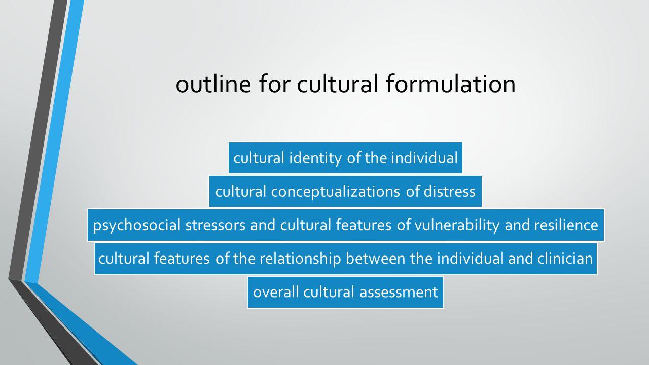 outline for cultural formulation