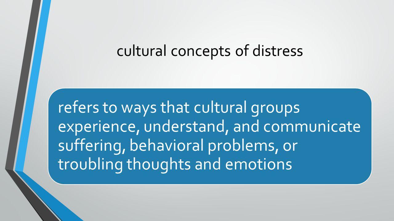cultural concepts of distress