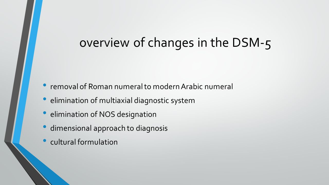 overview of changes in the DSM-5