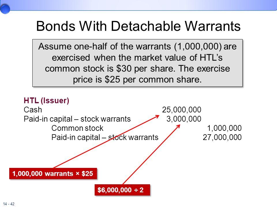 Bonds With Detachable Warrants