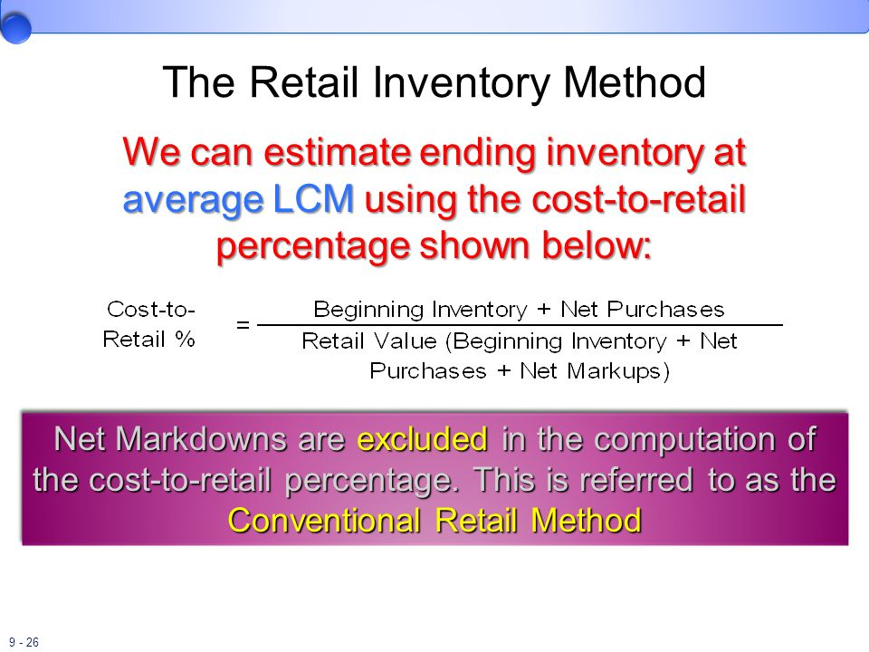 The Retail Inventory Method