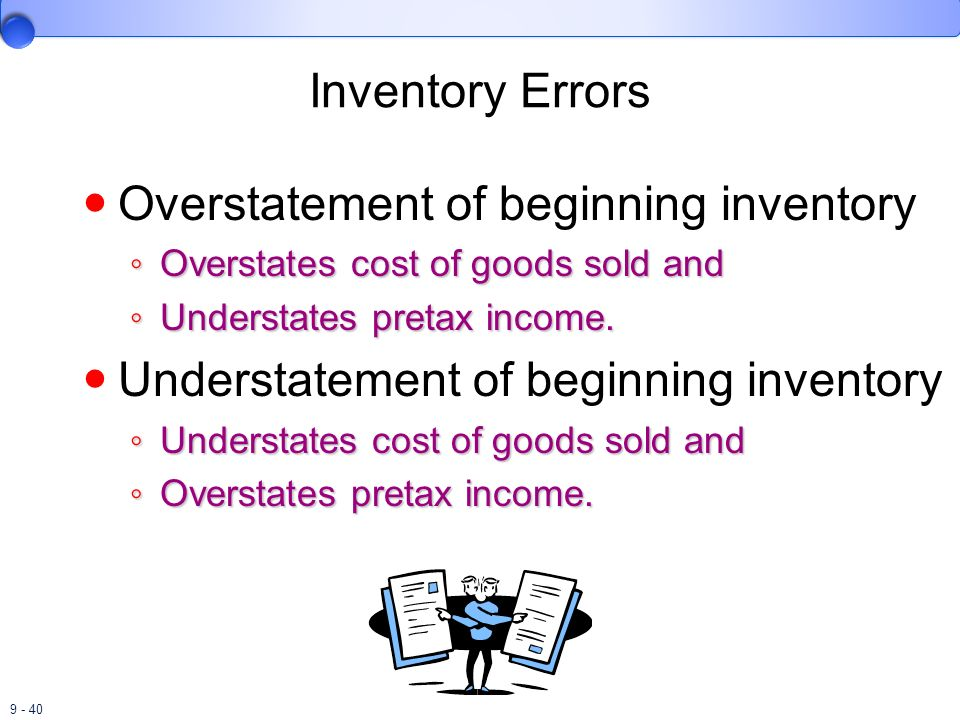 Overstatement of beginning inventory
