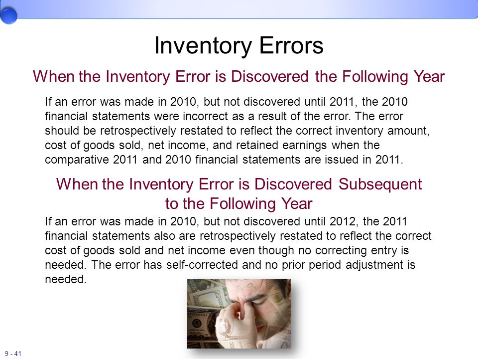 When the Inventory Error is Discovered the Following Year