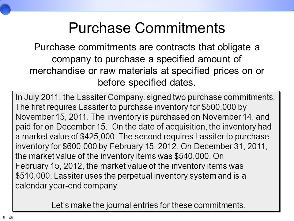 Purchase Commitments