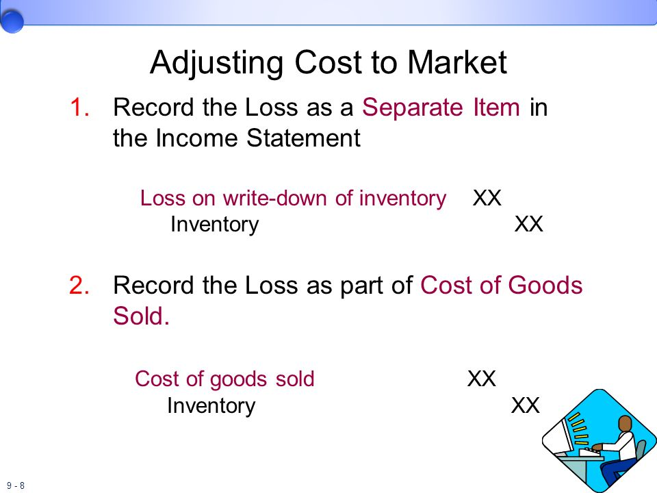 Adjusting Cost to Market
