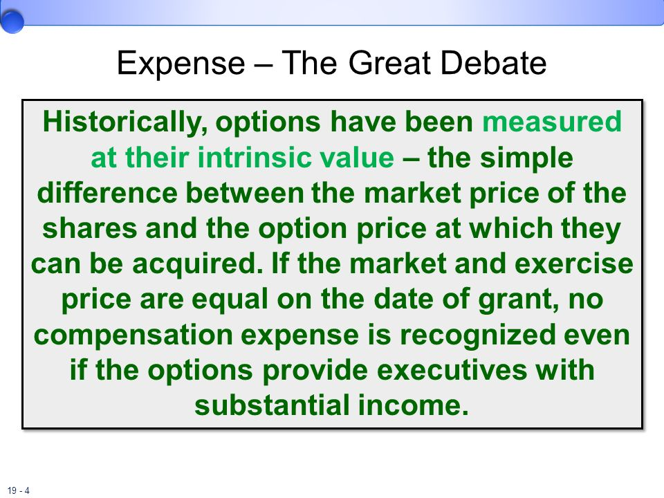 Expense – The Great Debate