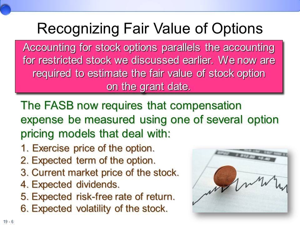 Recognizing Fair Value of Options