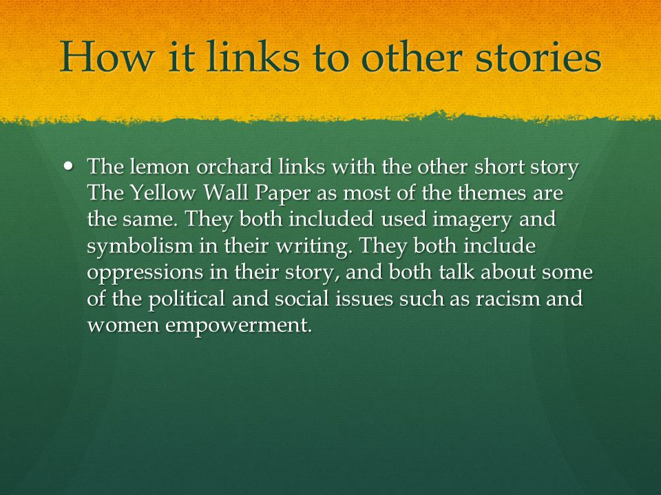 How it links to other stories