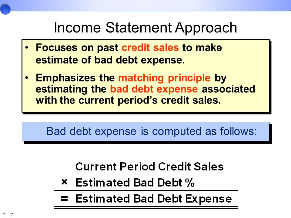 Income Statement Approach