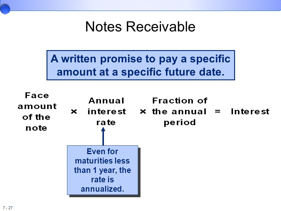 A written promise to pay a specific amount at a specific future date.