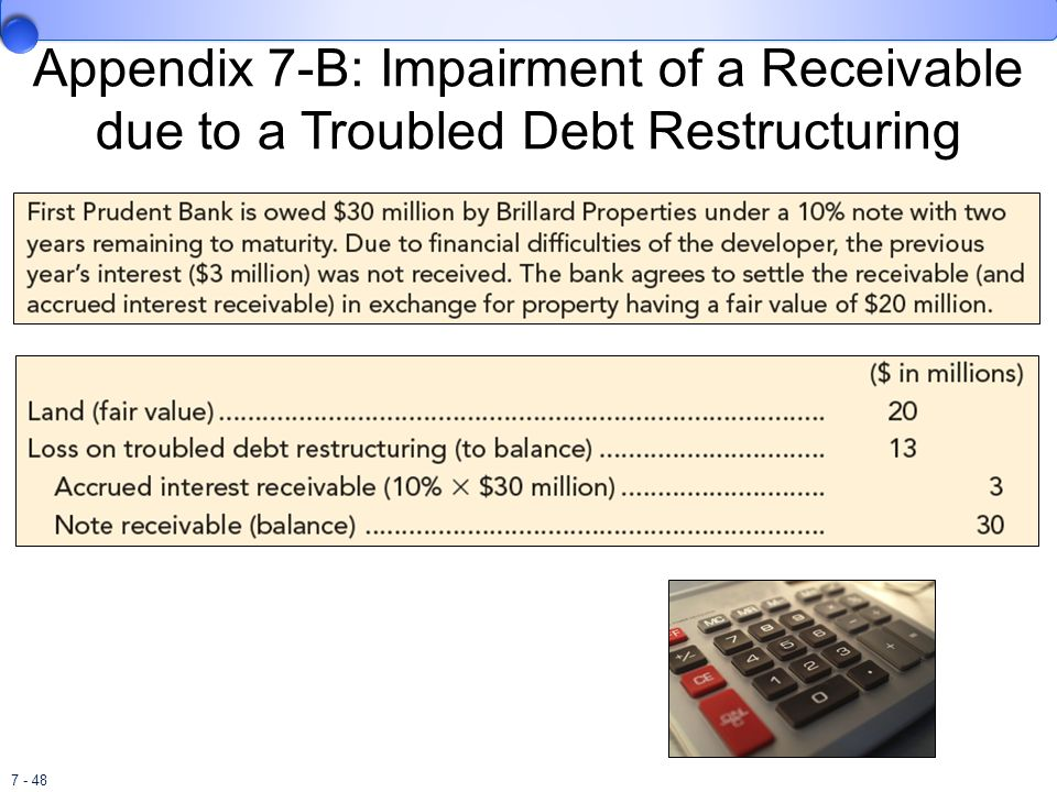 Appendix 7-B: Impairment of a Receivable due to a Troubled Debt Restructuring
